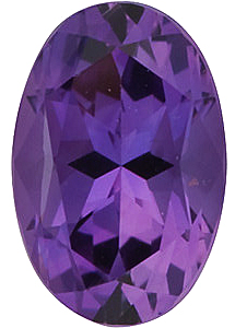 Oval Cut Genuine Amethyst in Grade AAA