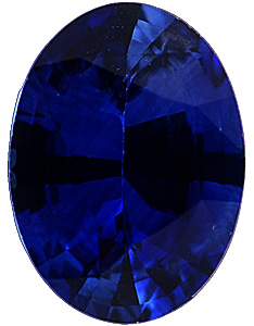 Oval Cut Genuine Blue Sapphire in Grade A