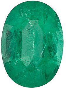Oval Cut Genuine Emerald in Grade A