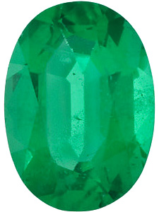 Oval Cut Genuine Emerald in Grade AA