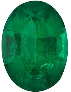 Oval Cut Genuine Emerald in Grade AAA