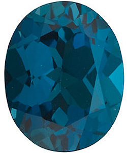 Oval Cut Genuine London Blue Topaz in Grade AAA