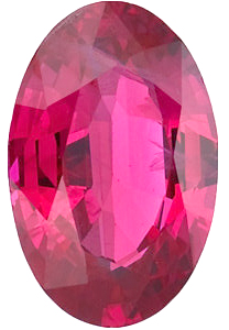 Oval Cut Genuine Ruby in Grade A