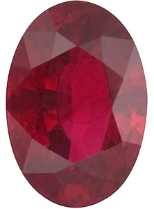 Oval Cut Genuine Ruby in Grade AA
