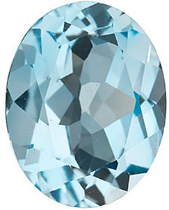 Oval Cut Genuine Sky Blue Topaz in Grade AAA