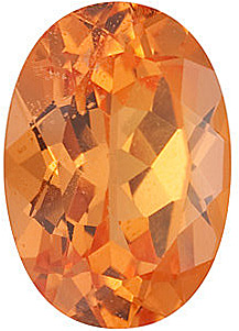 Oval Cut Genuine Spessartite Garnet in Grade AAA