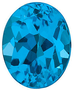 Oval Cut Genuine Swiss Blue Topaz in Grade AAA