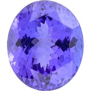 Oval Cut Genuine Tanzanite in Grade A