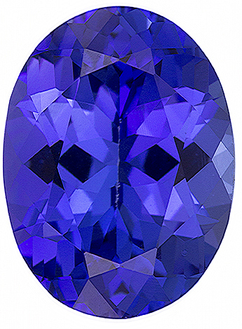 Oval Cut Genuine Tanzanite in Grade GEM