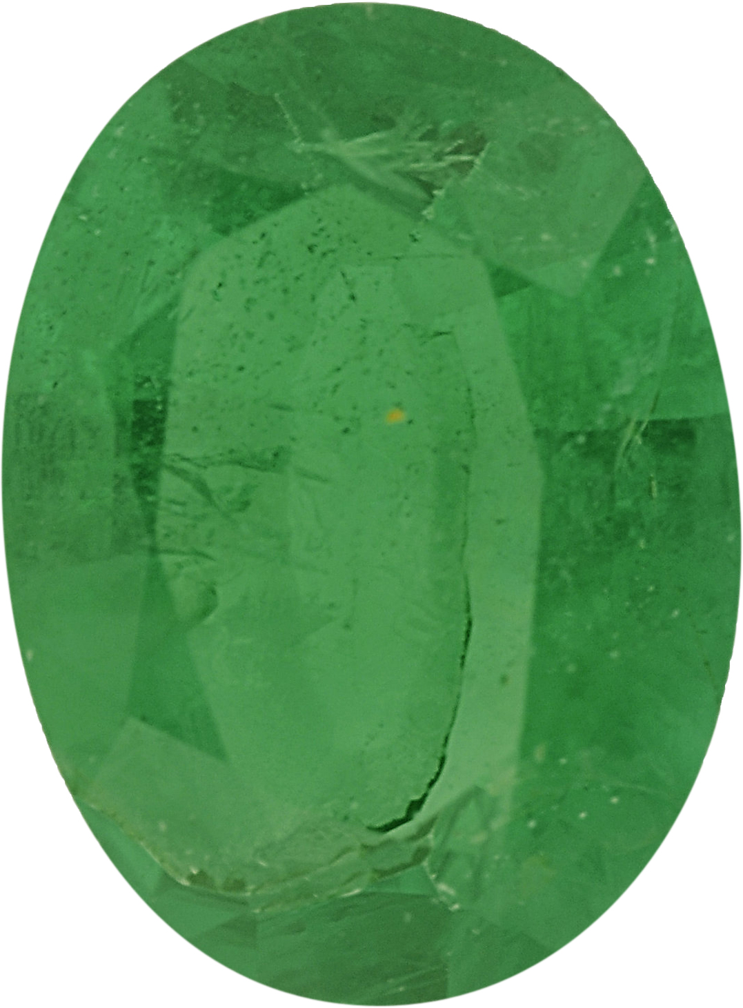 7.34 x 5.43 mm, Emerald Loose Gemstone in Oval Cut, 0.75 carats