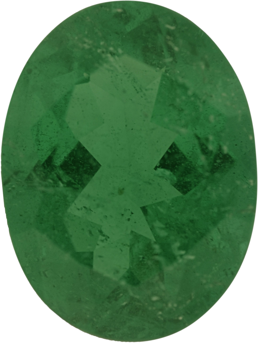 7.6 x 5.73 mm, Emerald Loose Gemstone in Oval Cut, 0.89 carats