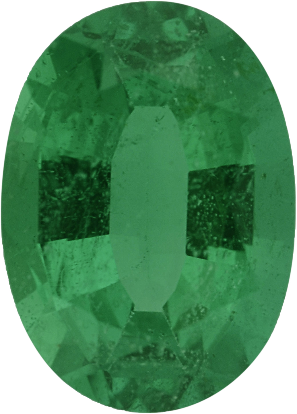 7.13 x 5.13 mm, Emerald Loose Gemstone in Oval Cut, 0.73 carats