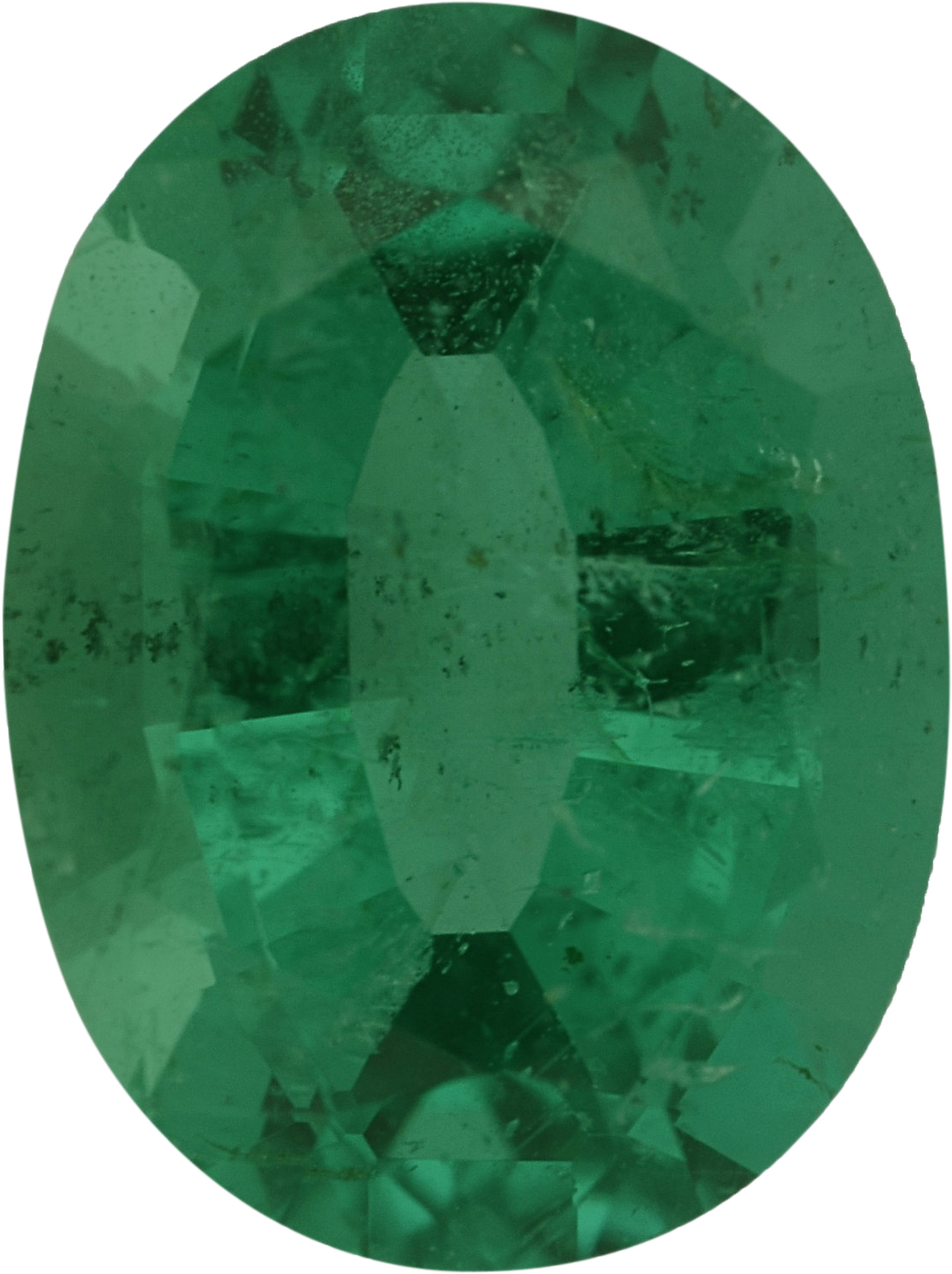 9.09 x 6.81 mm, Emerald Loose Gemstone in Oval Cut, 1.84 carats