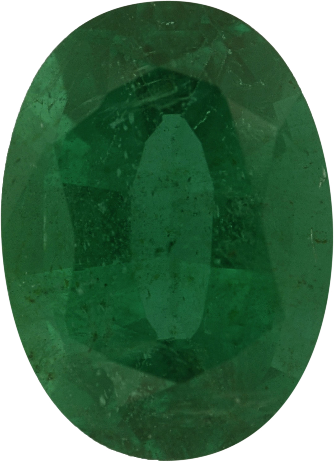 7.64 x 5.59 mm, Emerald Loose Gemstone in Oval Cut, 1.09 carats