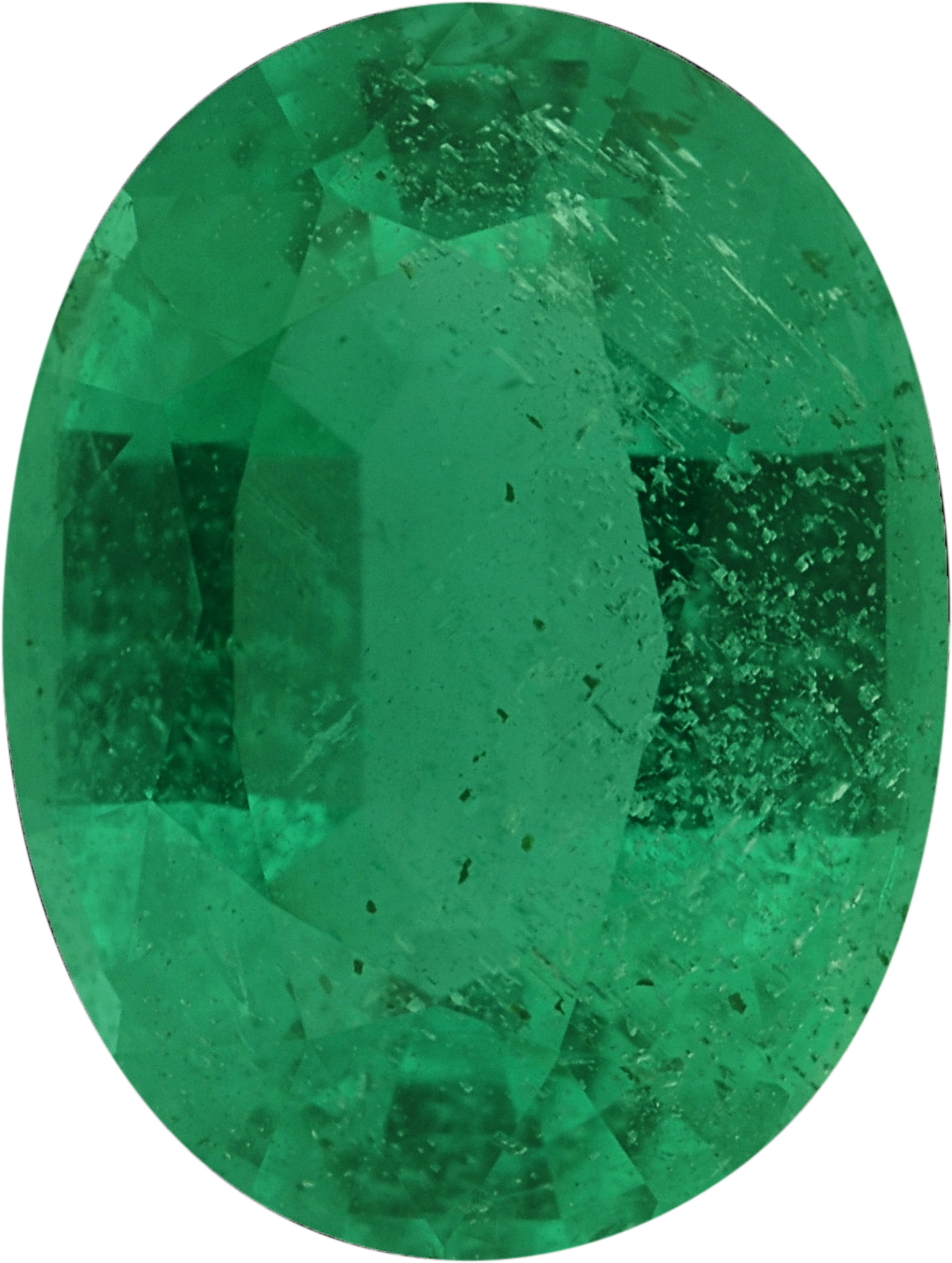 8.13 x 6.13 mm, Emerald Loose Gemstone in Oval Cut, 1.21 carats