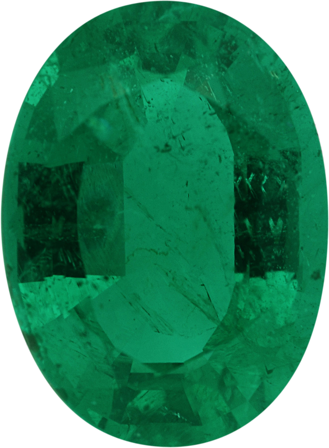 8.04 x 5.87 mm, Emerald Loose Gemstone in Oval Cut, 1.15 carats