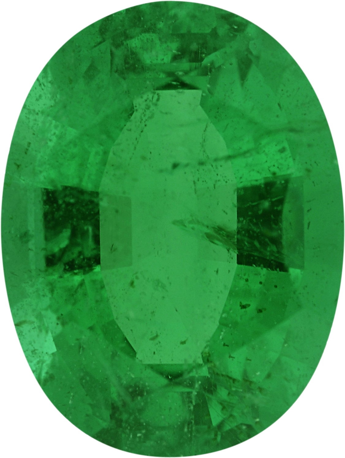 7.93 x 5.98 mm, Emerald Loose Gemstone in Oval Cut, 1.2 carats