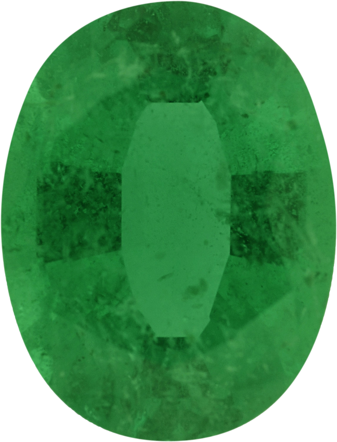 8.17 x 6.2 mm, Emerald Loose Gemstone in Oval Cut, 1.21 carats