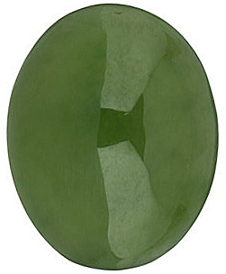 Oval Jade Genuine Cut in Grade AAA