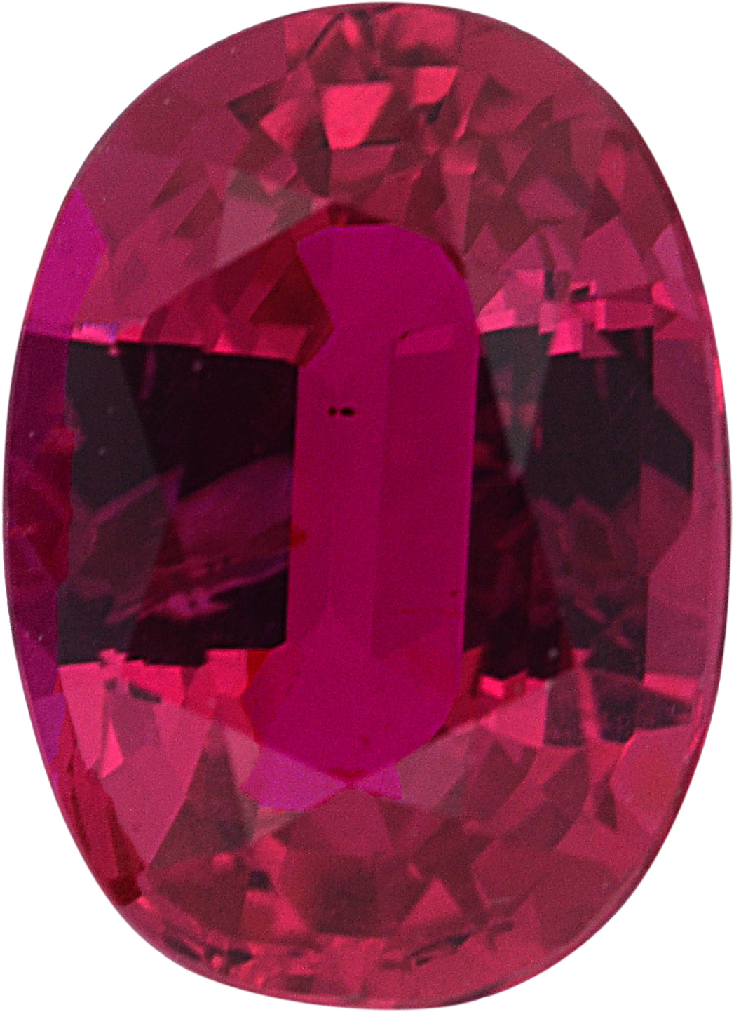 1.11 carats Ruby Loose Gemstone in Oval Cut, 7.15 x 5.15 mm