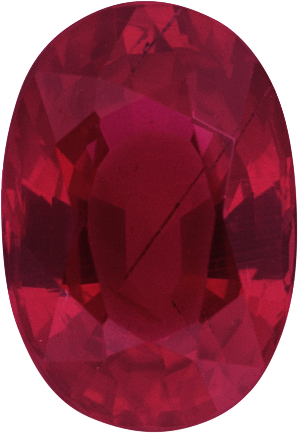 1.24 carats Ruby Loose Gemstone in Oval Cut, 7.52 x 5.17 mm