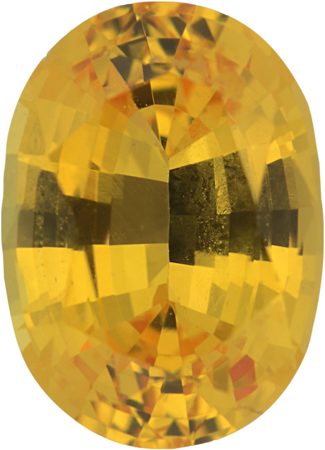 1.01 carats Yellow Loose Sapphire Gemstone in Oval Cut, 6.94 x 4.99 mm