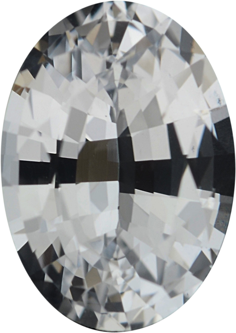 0.81 carats White Loose Sapphire Gemstone in Oval Cut, 6.82 x 4.86 mm