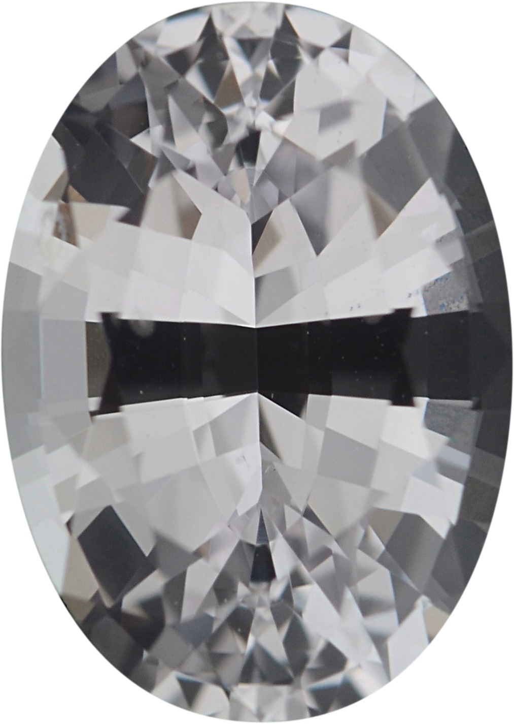 6.89 x 4.9 mm, Oval Cut Genuine White Sapphire Gem, 0.89 carats