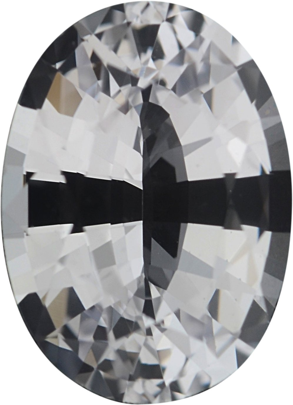0.88 carats White Loose Sapphire Gemstone in Oval Cut, 6.86 x 4.95 mm