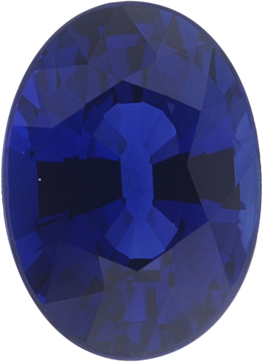 1.03 carats Blue Loose Sapphire Gemstone in Oval Cut, 6.85 x 4.94 mm
