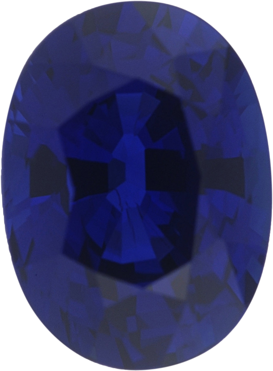 1.36 carats Blue Loose Sapphire Gemstone in Oval Cut, 7.4 x 5.43 mm