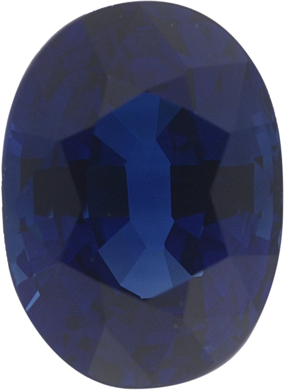 1.38 carats Blue Loose Sapphire Gemstone in Oval Cut, 7.28 x 5.31 mm