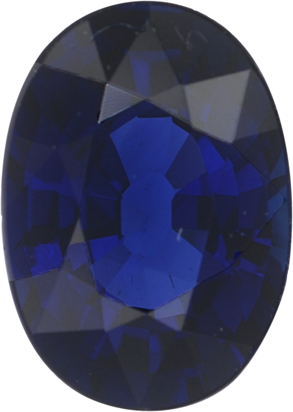 1.02 carats Blue Loose Sapphire Gemstone in Oval Cut, 6.91 x 4.9 mm