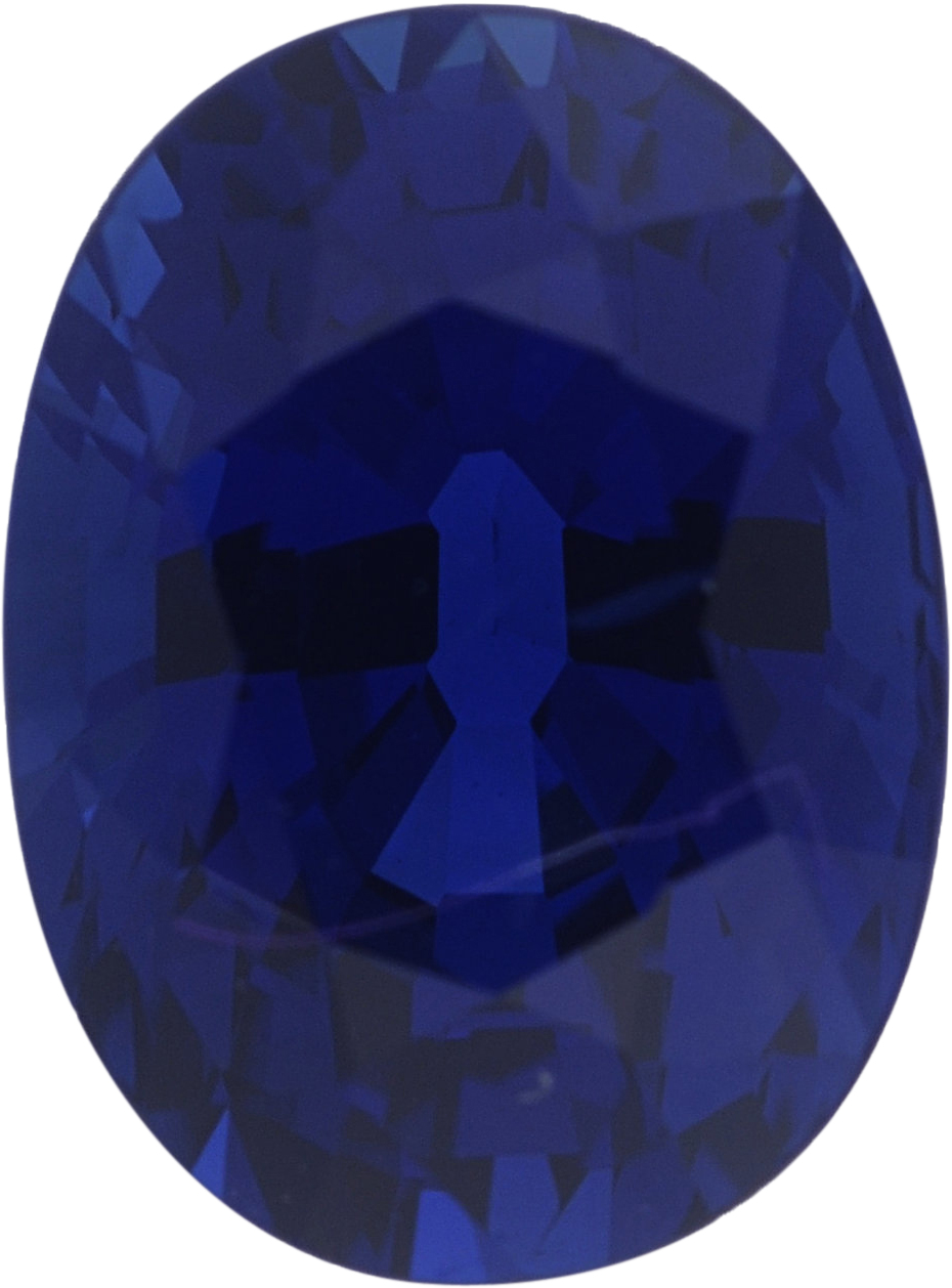 1.43 carats Blue Loose Sapphire Gemstone in Oval Cut, 7.34 x 5.42 mm