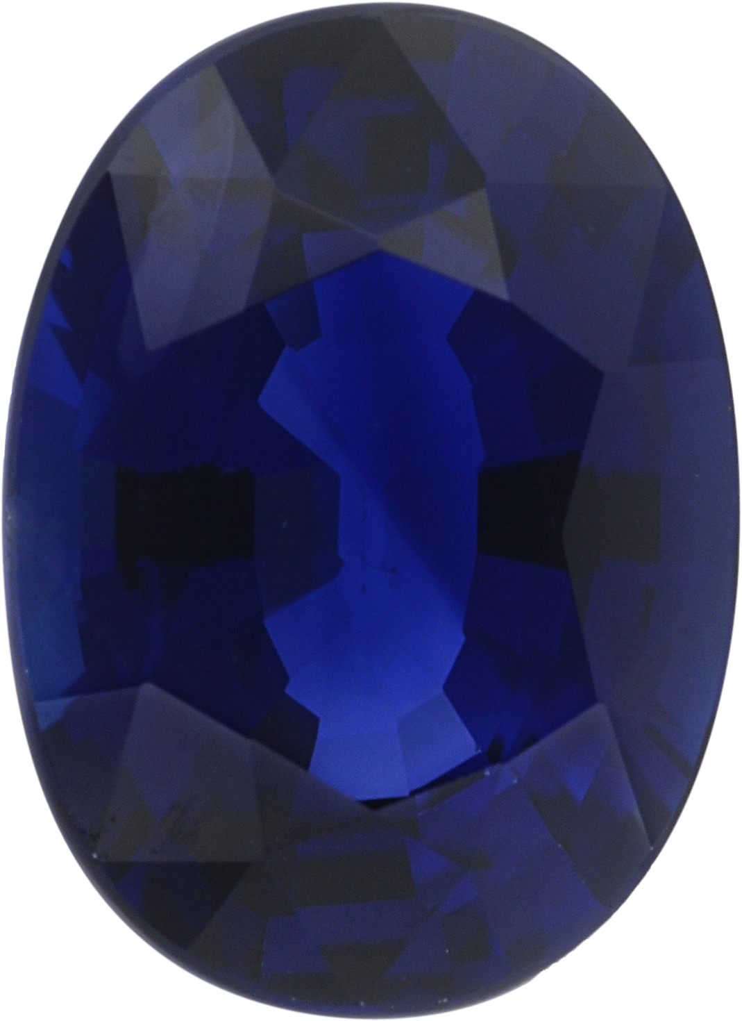 1.12 carats Blue Loose Sapphire Gemstone in Oval Cut, 7.29 x 5.27 mm