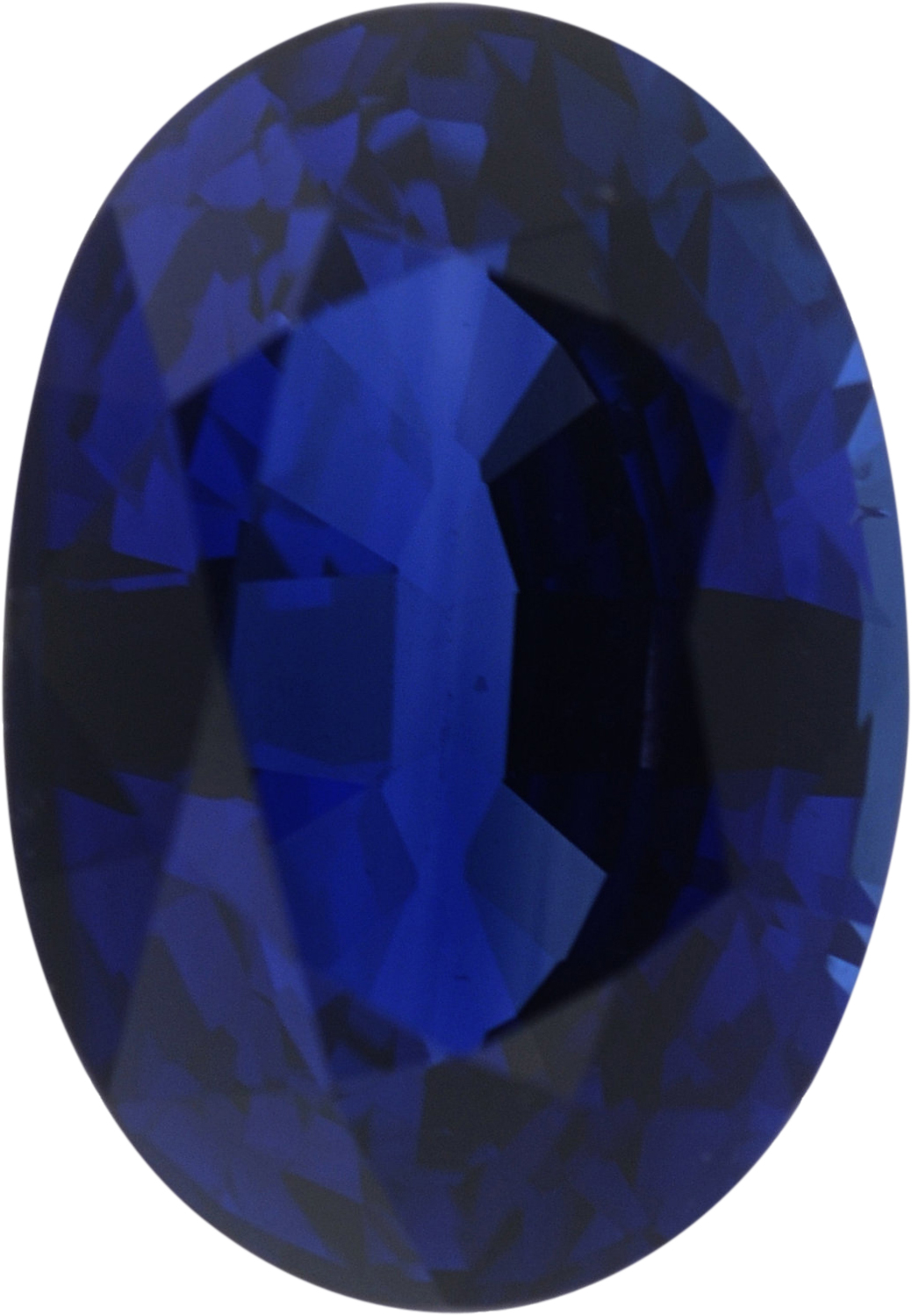 1.69 carats Blue Loose Sapphire Gemstone in Oval Cut, 8.05 x 5.64 mm