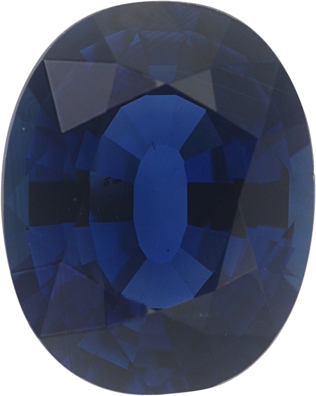 1.56 carats Blue Loose Sapphire Gemstone in Oval Cut, 7.79 x 6.2 mm