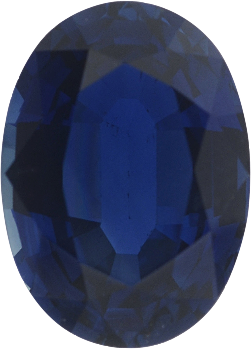1.02 carats Blue Loose Sapphire Gemstone in Oval Cut, 7.12 x 5.13 mm