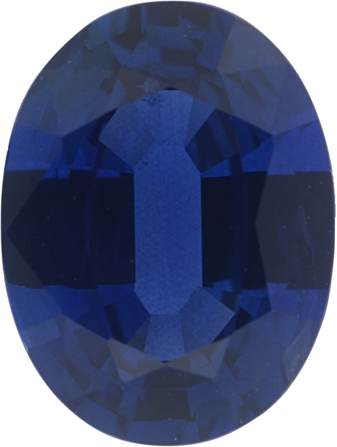 1.36 carats Blue Loose Sapphire Gemstone in Oval Cut, 7.84 x 5.9 mm