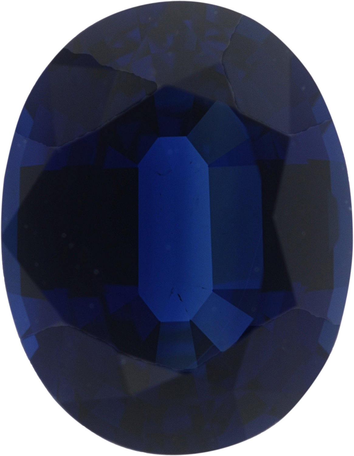 2.58 carats Blue Loose Sapphire Gemstone in Oval Cut, 9.04 x 7.03 mm