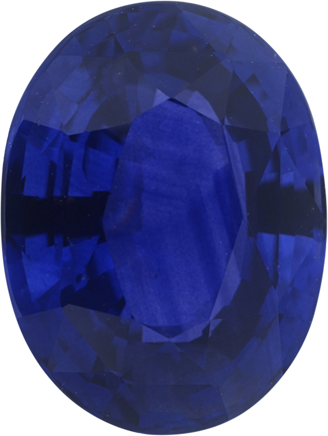2.44 carats Blue Loose Sapphire Gemstone in Oval Cut, 8.92 x 6.8 mm