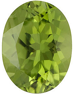 Oval Shape Arizona Peridot Genuine Quality Loose Faceted Gem Grade AA  8.00 x 6.00 mm in Size