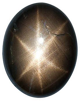 Oval Shape Black Star Sapphire Loose Natural FINE, Quality Loose Gemstone Grade AA, 6.00 x 4.00 mm in Size