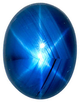 Oval Shape Blue Star Sapphire Gemstone Grade AA, 7.00 x 6.00 mm in Size, 1.75 Carats