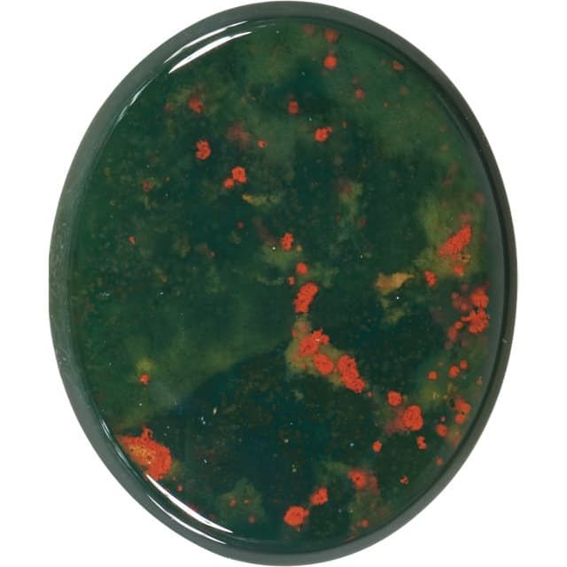Oval Shape Buff Bloodstone Gemstone Grade AAA, 10.00 x 8.00 mm in Size