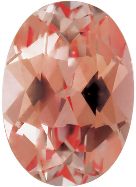 Oval Shape Chatham Created Champagne Sapphire Gemstone Grade GEM, 7.00 x 5.00 mm in Size, 1.08 Carats