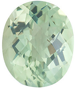 Oval Shape Checkerboard Green Quartz Genuine Quality Loose Faceted Gem Grade AAA, 12.00 x 10.00 mm in Size