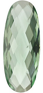 Oval Shape Double Sided Checkerboard Green Quartz Genuine Quality Loose Faceted Gem Grade AAA, 30.00 x 12.00 mm in Size