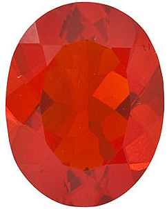 Oval Shape Mexican Fire Opal Real Quality Cut Gemstone  Grade AAA  4.00 x 3.00 mm in Size