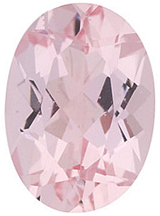 Oval Shape Morganite Genuine Charles Covard Gemstone Grade AAA  0.75 carats,   7.00 x 5.00 mm in Size